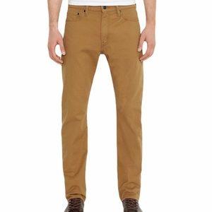 Levis 513 khaki slim straight stretch jeans 36x30
